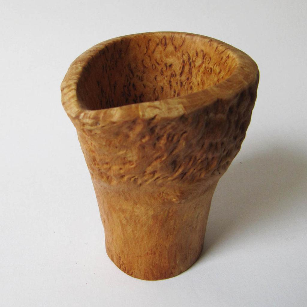 Puodelis kavai (Karelijos beržas, 9 cm) | Adomo medis